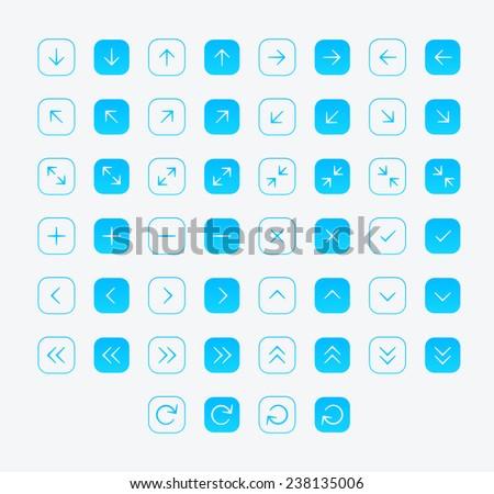 Arrow icon set - stock vector