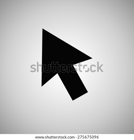 Arrow icon, vector illustration. Flat design style - stock vector