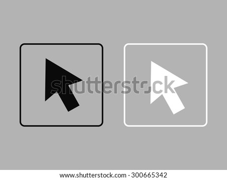 Arrow icon, vector illustration. Flat design style - stock vector