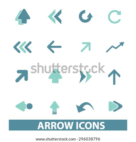 arrow icons - stock vector