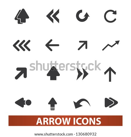 arrow icons set, vector - stock vector