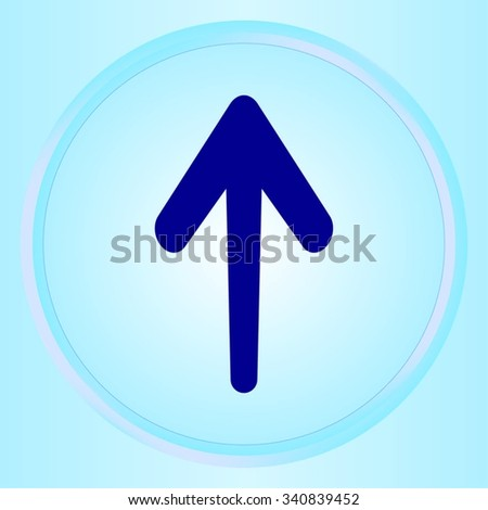 Arrow indicates the direction  icon, vector illustration. Flat design style