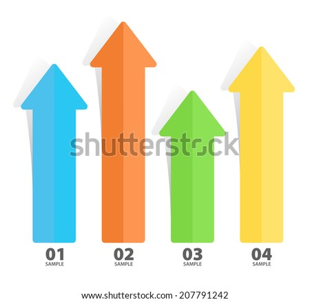Arrow infographic diagram chart illustration - stock vector