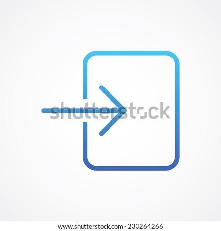 Arrow Login Enter icon, vector illustration for web mobile application. Flat, Metro, Simple design style. ESP10 - stock vector