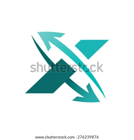 Arrow logo design - stock vector