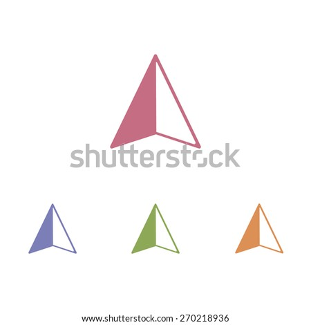 Arrow navigator icon - stock vector