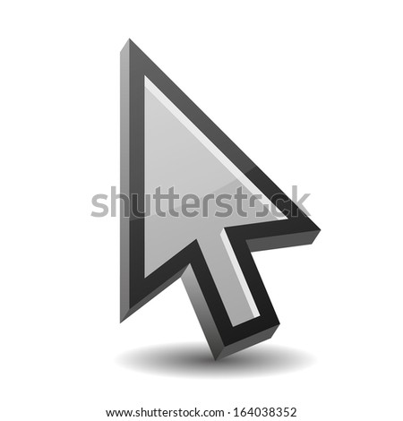 Arrow pointer isolated on white - stock vector