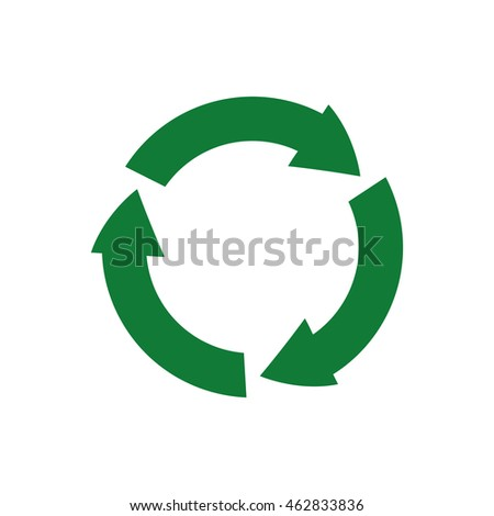 arrow recycle circle organic ecology icon. Isolated and flat illustration. Vector graphic