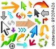 arrow set - stock vector
