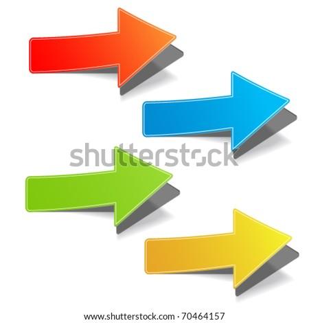 Arrow set vector for design - stock vector