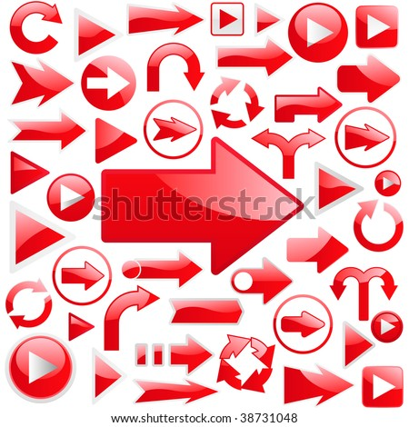 Arrow set vector for web design. - stock vector