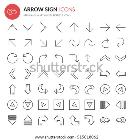 Arrow Sign Icons , Thin Line and Pixel Perfect Icons