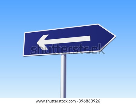 Arrow sign with mistake. Vector illustration - stock vector