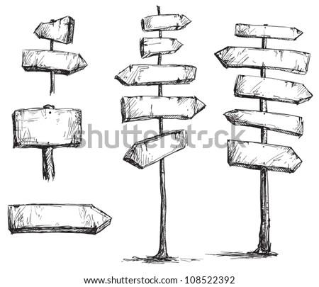 arrow signs vector drawing - stock vector