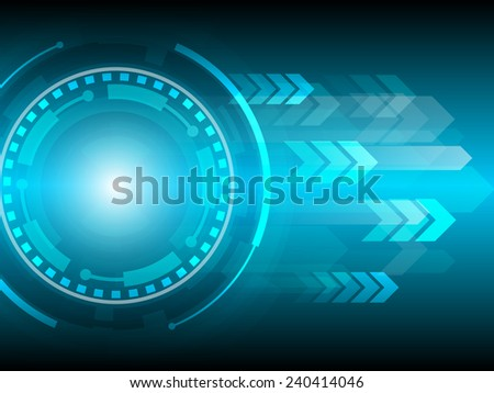 arrow speed abstract technology background - stock vector
