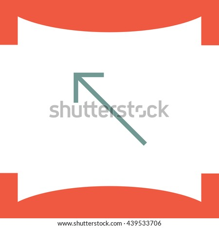 Arrow top left sign line vector icon. Direction sign line icon.