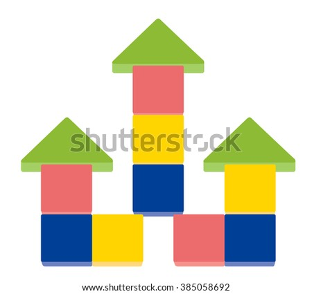 Arrow up shape of stack blocks, Vector Illustration - stock vector
