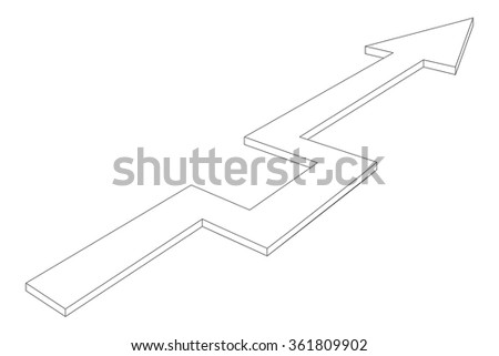 Arrow. Vector illustration isolated on white background