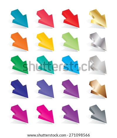 Arrow Wedge vector shapes - stock vector
