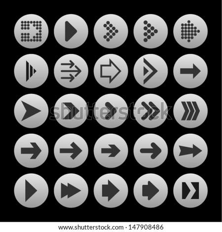 Arrowheads icon - stock vector