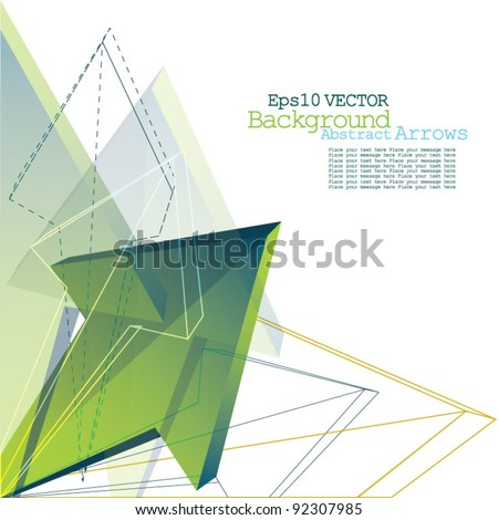 Arrows - Abstract Background - stock vector