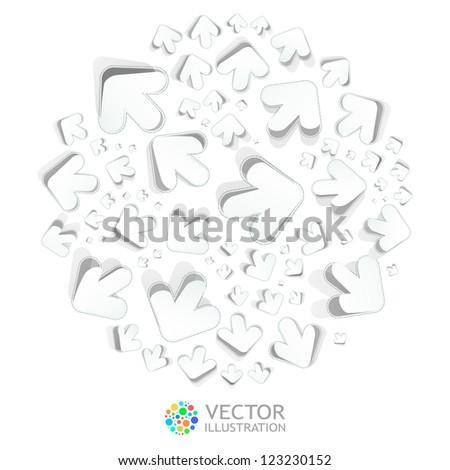 Arrows. Abstract illustration. - stock vector