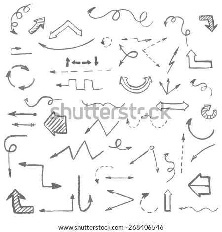Arrows and infographics elements vector illustration