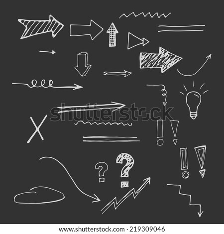 Arrows and signs set. Eps 8. - stock vector