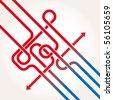 Arrows background vector abstract - stock vector
