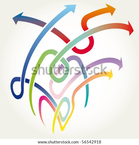 Arrows background vector illustration - stock vector