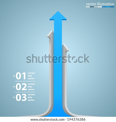 Arrows business growth, Arrow up numbers, Vector infographic illustration - stock vector