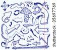 Arrows doodles. Vector illustration - stock vector