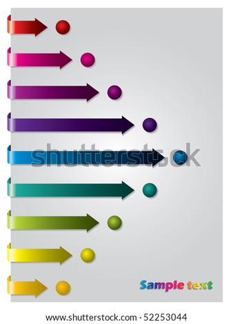 Arrows following dots - stock vector