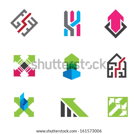 Arrows for way of business success logo economy finance and self motivation progress - stock vector