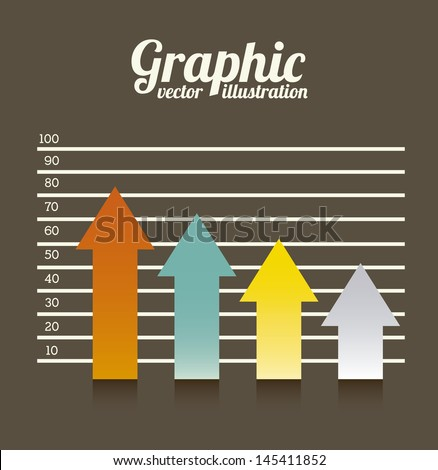arrows graphics over brown background vector illustration