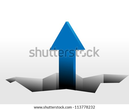 Arrows - growth concept. Vector abstract background. - stock vector
