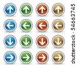 arrows icon set - stock photo