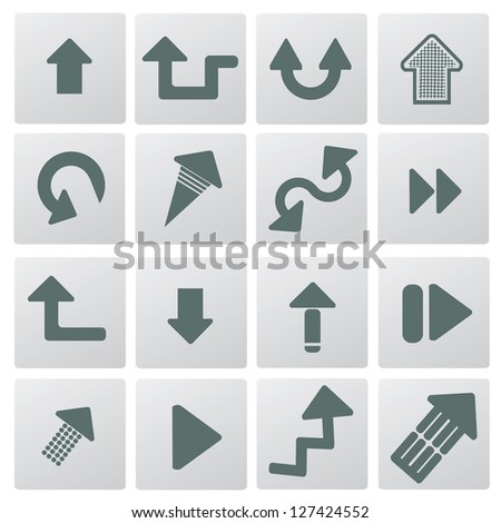 Arrows icon set,vector - stock vector