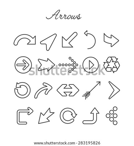 Arrows Icon Set. vector Illustration - stock vector