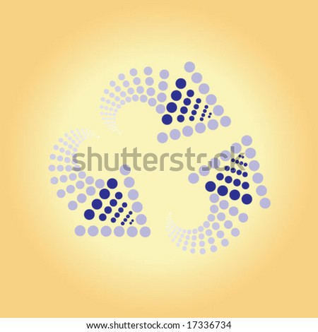 arrows made of circles in motion (vector style) - stock vector