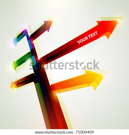 Arrows of different directions - stock vector
