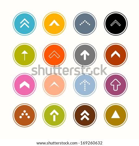 Arrows Set in Circles - stock vector