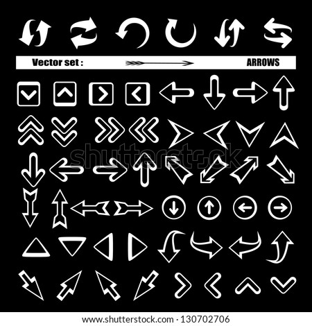 Arrows - Set - Vector illustration, Graphic Design Editable For Your Design. Lot Of Useful Elements. Logo Symbols