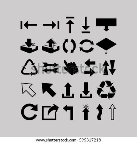 Arrows Symbol Vector Illustration Stock Vector 595317218 Shutterstock