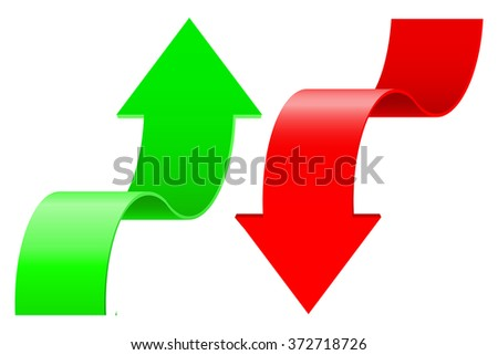 Arrows. UP and DOWN. Vector illustration isolated on white background - stock vector