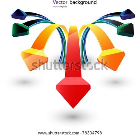 arrows. Vector format - stock vector