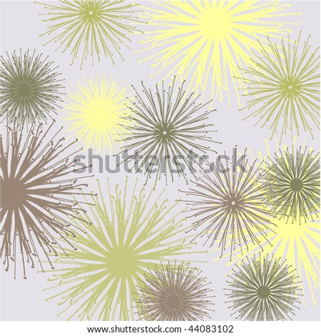 art abstract graphic stylization floral pattern with dandelions