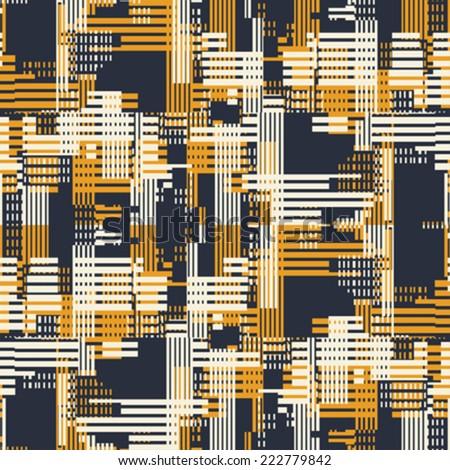 Art abstract urban motif geometric  background. Seamless pattern. Vector. - stock vector