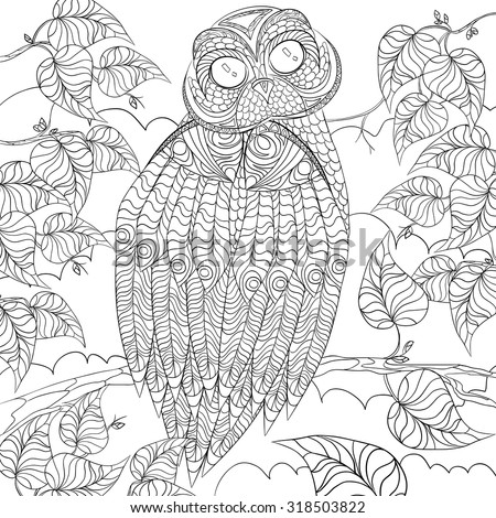 Art And Color Therapy An Antistress Coloring Book Wise Owl Flora