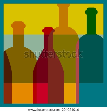 Art background. Wine restaurant concept. Vector. - stock vector